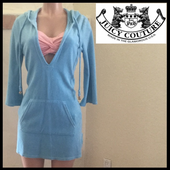 3b2aa633a1 Juicy Couture Other - NWOT Juicy Couture Hooded Terry Swim Coverup Dress
